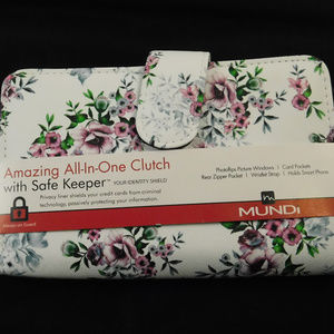 Mundi Wristlet All in One Clutch Wallet Floral New